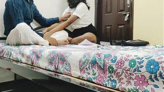 हॉट पूजा ने देसी टिचर को मजबूर किया चूत चोदने में with क्लियर Audio