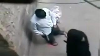 horny couple having hardcore doggie fuck