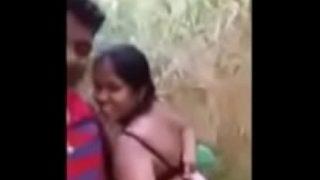 Horny hindu call girl having hard outdoor sex