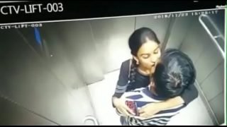 Hyderabad (IT) Telugu HMRL (Hyderabad Metro Rail Limited) train station lift young couples kissing, misusing the elevator lift sex porn video