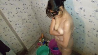 Indian Wife Taped While Bathing